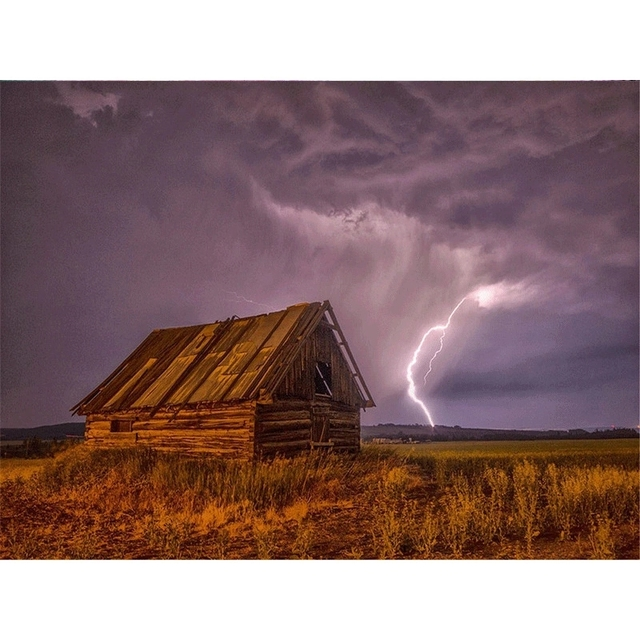 Lightning and Cabin
