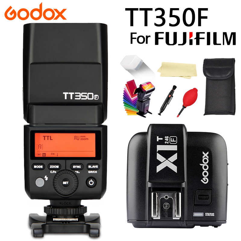 Godox Mini Speedlite TT350F+X1TF Trigger for Fujifilm Camera Flash Light TTL HSS GN36 High Speed 1/8000S 2.4G Wireless X System Godox Mini Speedlite TT350F+X1TF Trigger for Fujifilm Camera Flash Light TTL HSS GN36 High Speed 1/8000S 2.4G Wireless X System