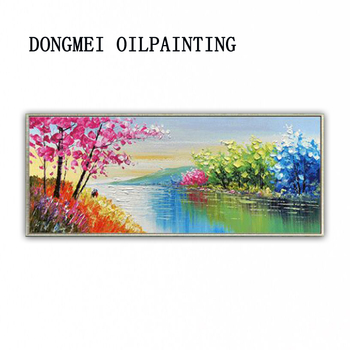 DONGMEI OILPAINTING Hand painted oil painting Home decor High quality  knife painting landscape art pictures        DM180803