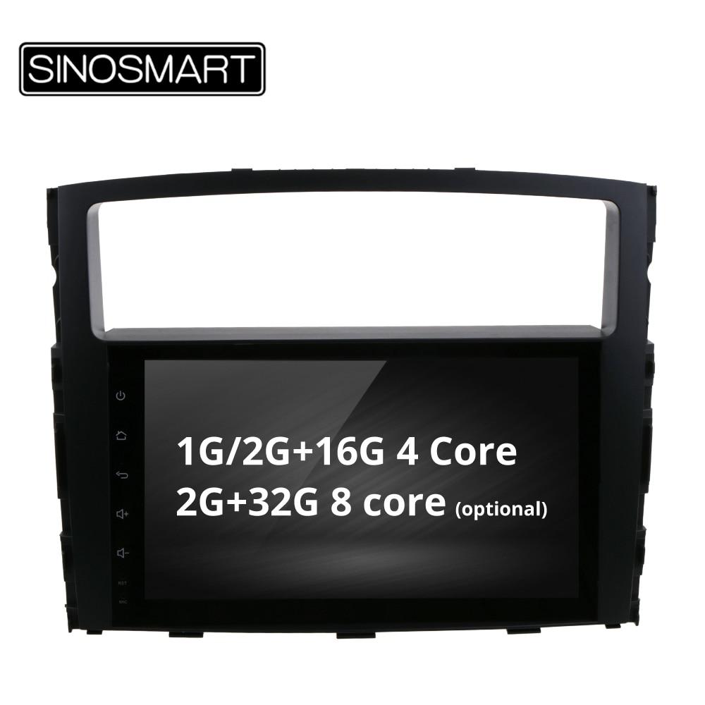 SINOSMART 4 Core 8 Core CPU 2G RAM Android 8 1 Car GPS Navigation for Mitsubishi