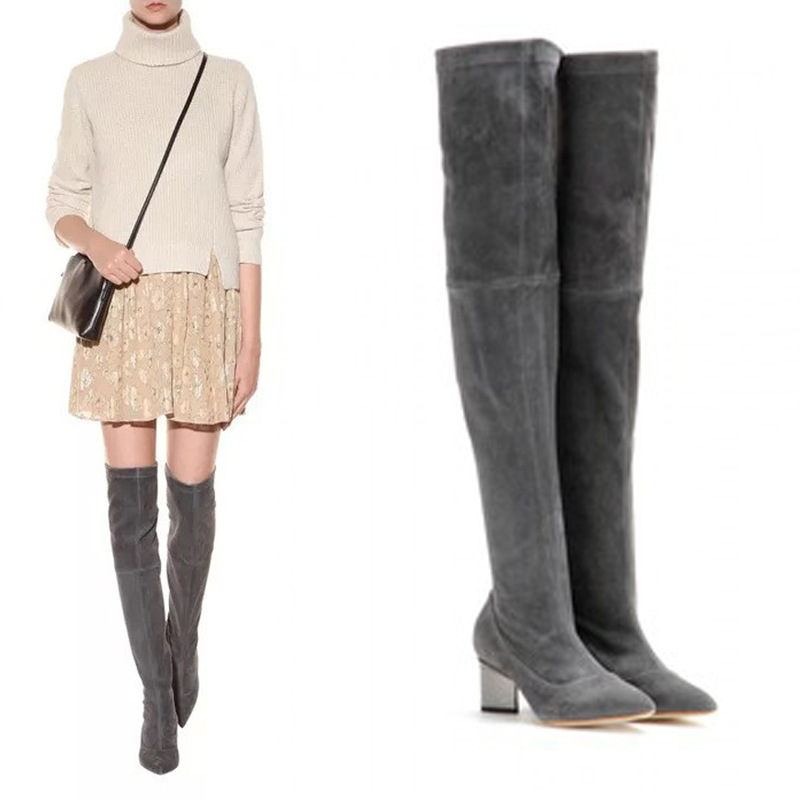 348493e28f7 Winter Over the knee High Suede Boots For Women