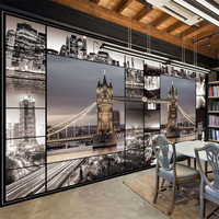 Beibehang London England Architecture Retro Background Wall Painting Custom Large Mural Green Wallpaper Papel De Parede