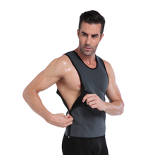 NINGMI Neoprene Mens Vest Hot Sweat Shirt Slimming Fitness Body Shaper Tank Top Undearear Waist Trainer