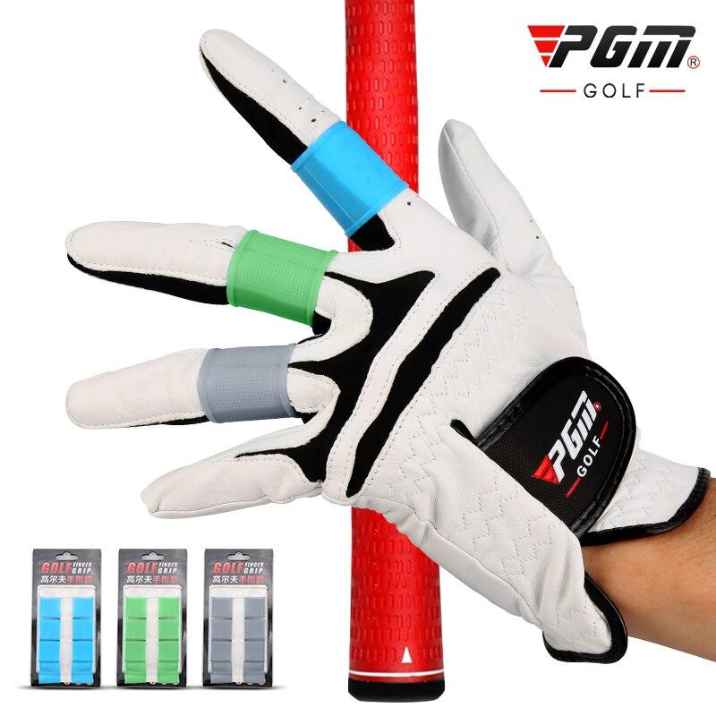Luvas de Golfe Profissional dos Homens Feminino ao ar Novo! Livre Esportes Dedos Naturais Silicone Genuíno Highballs Dedo Manga Pgm