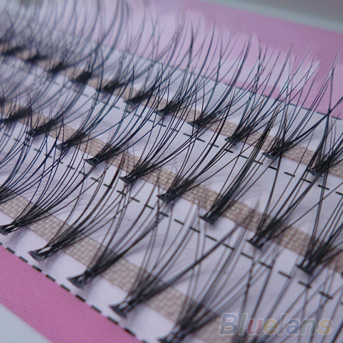 Fashion 60pcs Professional Makeup Individual Cluster Eye Lashes Grafting Fake False Eyelashes 477N 3