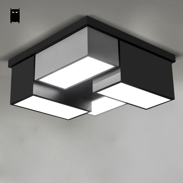 Iron Acrylic Dimmable Surface Mounted Ceiling Light
