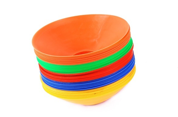 10pcs Soccer Discs Bucket Marker football training Accessories Training Sign Flat Pressure Resistant Cones Marker