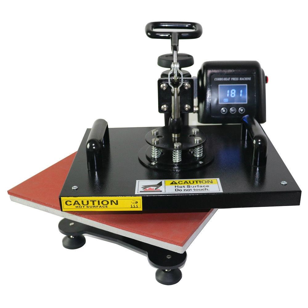 Détails sur 32*45 cm A3 2.4KW Machine de presse à chaud manuelle pivotante pour tapis de souris t-shirt bricolage