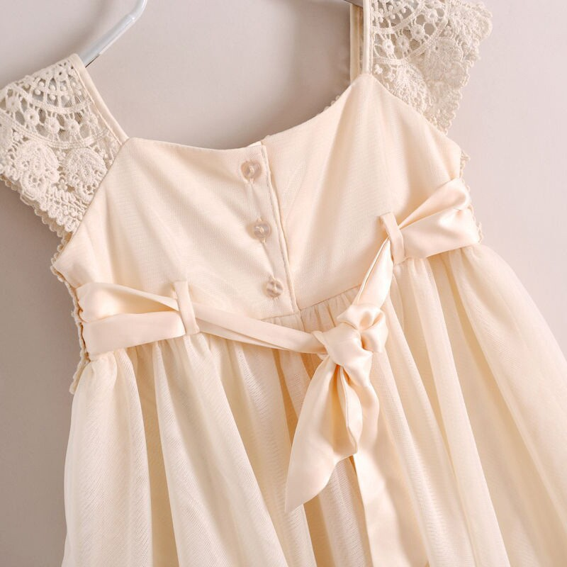 2be4698b212e Lace And Chiffon Girls Summer Pattern Dress Baby Beige Clothing 6pcs lot  Free Shipping-in Dresses from Mother   Kids on Aliexpress.com