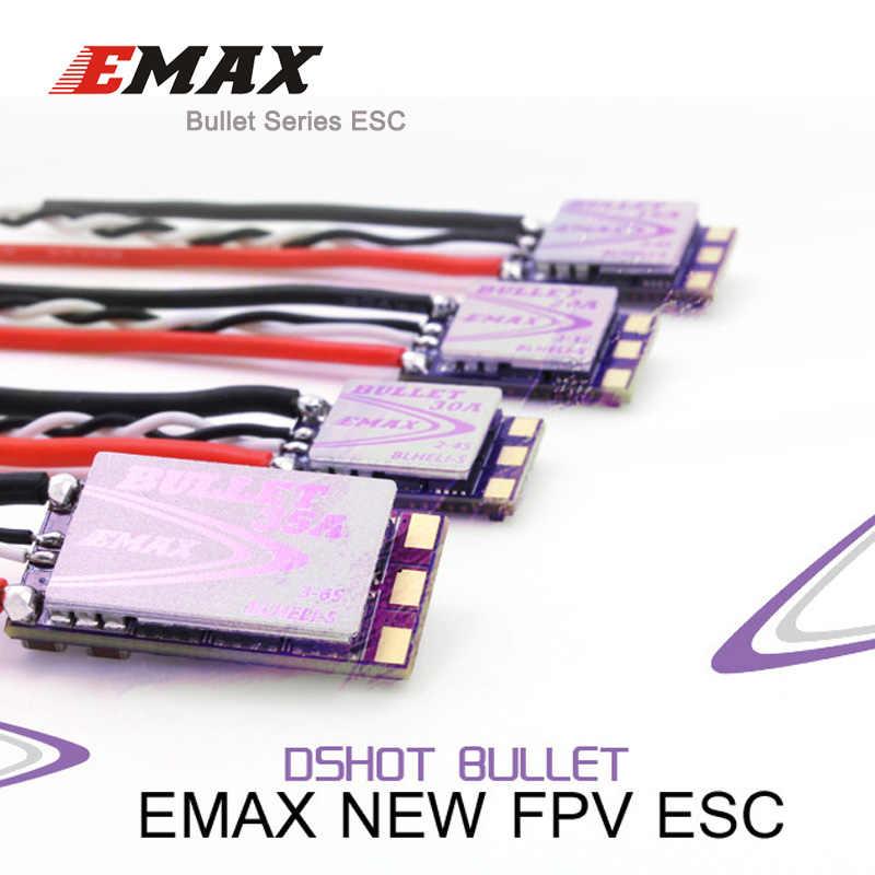 4 unids/lote EMAX Original nuevo BLHeli-S DSHOT bala FPV CES 6A 12A 15A 20A 30A 35A BLHeli s controlador de velocidad