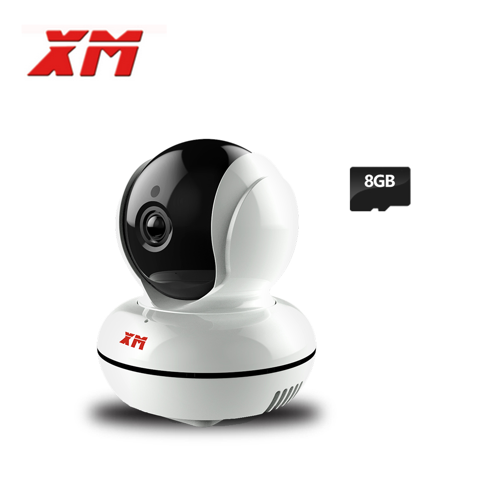 XM 1080 P 2.0MP + 8 GB Cartão SD Câmera IP Sem Fio Wi-fi CCTV Câmera Pan/Tilt Night Vision Câmera de Segurança P2P Cam com IR-Cut