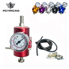 Universal 0-140 PSI Adjustable FPR Fuel Pressure Regulator With Gauge Fuel Pressure Regulator JDM PQY7451