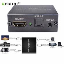 Kebidu HDMI Audio Extractor HDMI Zu HDMI Und Optische TOSLINK Spdif + 3,5mm Stereo Audio Extractor Konverter HDMI Audio splitter