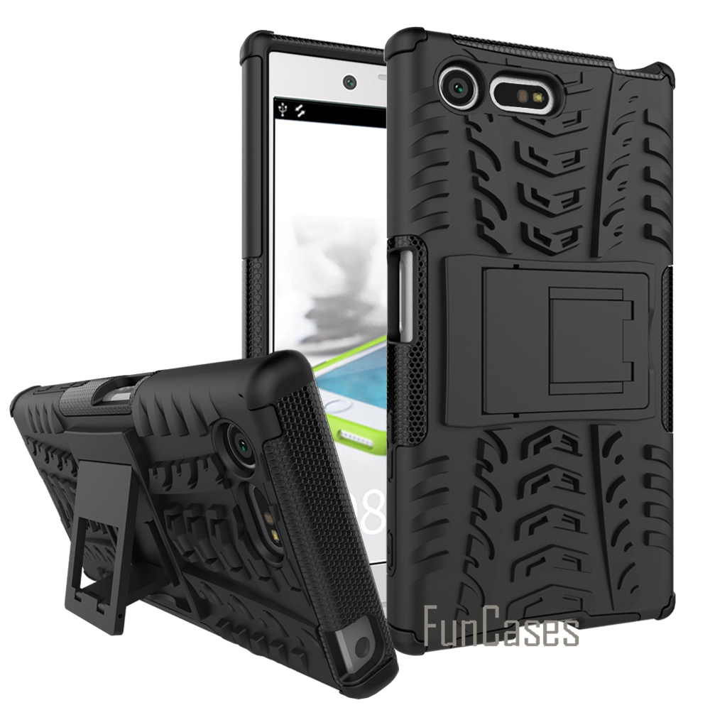 For Sony X Compact Case Hard Plastic Silicon Back Smartphone Cover Protective Mobile Phone Bags Cases For Sony Xperia X Compact