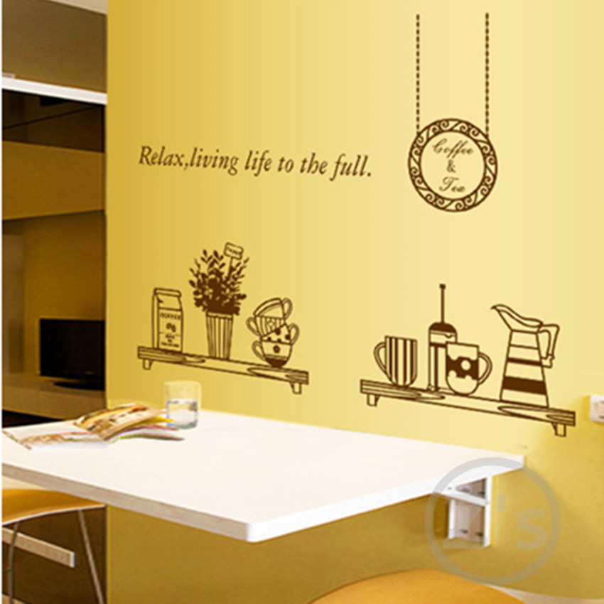 ... Kitchen Wall Decals Removable Wall Sticker Home Decoration Diy  Adhesives Art Mural Posters Vinyl Wallpaper AY6036 ...
