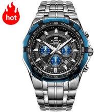 Casio watch Racing Men's Watch Sports Waterproof Quartz Watch EF-540D-1A2 EF-539D-1A2 EF-540D-7A EF-540D-5A