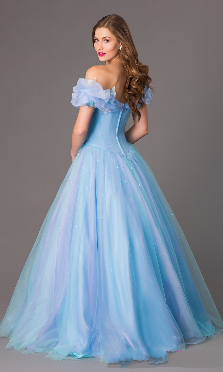 New arrival ice blue prom dresses 2015 RP10 ball gown party dress ...