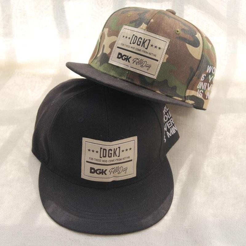 2015 New Fashion Camouflage Baseball Cap Men Sport Hat DGK Hip Hop Caps Gorras Planas Women Snapback Hats