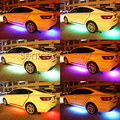 Аксессуары Для Suzuki Grand Vitara Джимми Hyundai Solaris Tucson 2016 I30 IX35 Акцент Шасси Автомобиля СВЕТОДИОДНЫЕ Лампы Днища Glow Свет