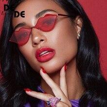 Hot Sale Sexy Red Lips Sunglasses 90S Hippie Vintage sun galsses for Women Festival Rave Party Sun Glasses Ladies Eyeglasses