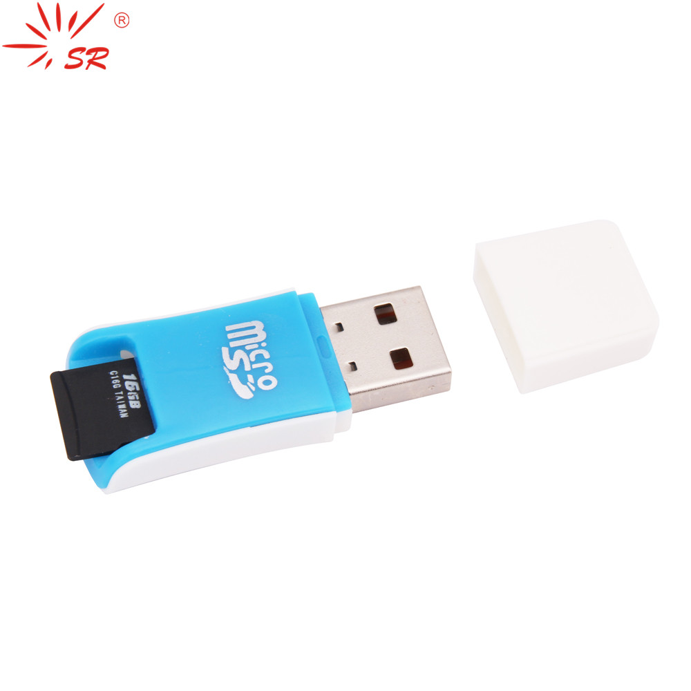 SR USB Portable Efficient Transmission Card Reader T-Flash Memory Card MicroSD Card Adapter