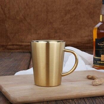 Nouvelle Double paroi 304 en acier inoxydable tasse caf eau lait th tasse bi re tasse