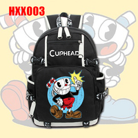 Giancomics Cuphead Shooting Game Canvas Backpack Bag Fashion Travel Student School Bag Leisure Daily Notebook Shoulder Knapsack
