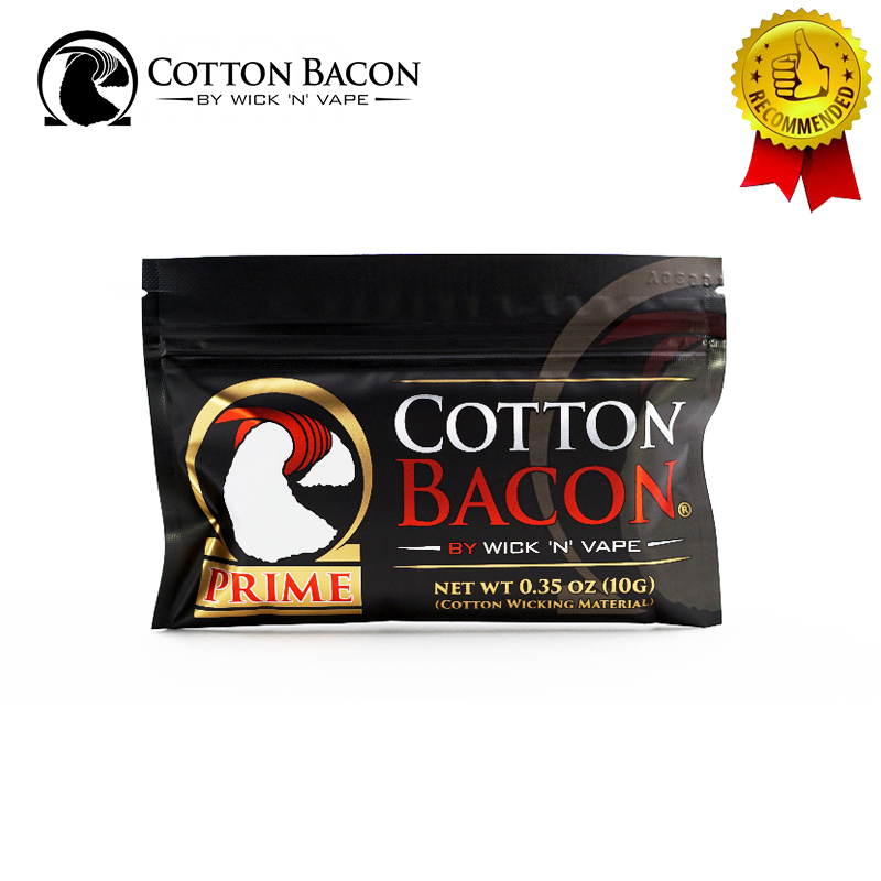 100% Organic Wick N Vape Cotton Bacon Prime Made In USA Suitable For RDA RDTA RTA No Chemicals/Pesticides Rebuild Vape Cotton