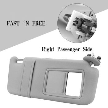 Right Passenger Side Sun Visor for Toyota Camry 2007-2011 Gray Auto With  Sunroof Gray Glass Mirror Windshield Sun Shade New