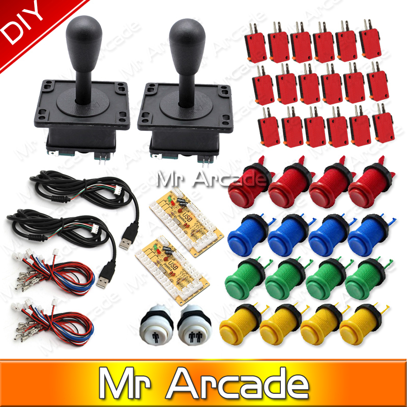 Free shipping Mame USB Zero Delay USB Encoder 8 Way Classic Arcade Joystick Classic Arcade Push Button for Arcade Game DIY Parts usb mame