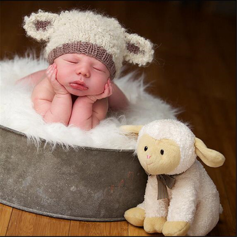 Newborn Photography Crown Hat Photo Session Baby Boy Girl Photo Props Headwear G