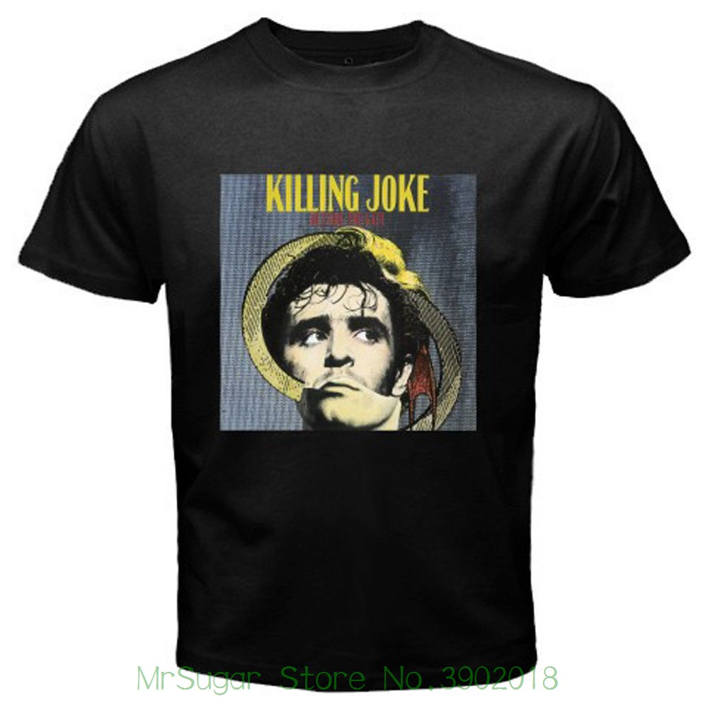 New Killing Joke Outside The Gate Rock Band Mens Black T-shirt Size S To 3xl 2018 Short Sleeve O-neck