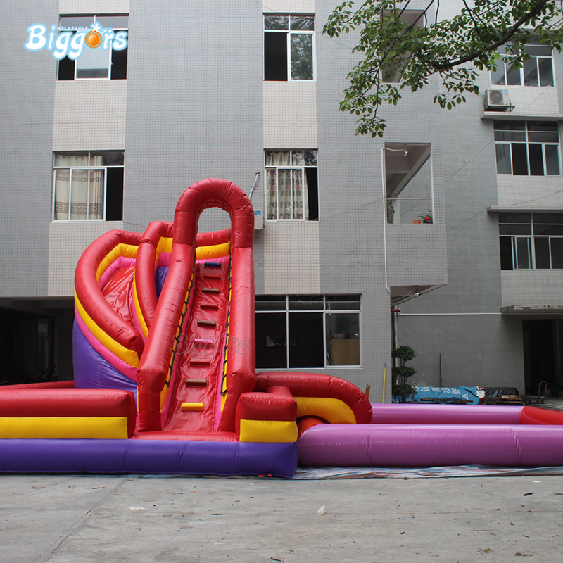 Hot Selling Outdoor Inflatable Amusement Park Inflatable Water Pool Slide With Blowers inflatable biggors amusement park inflatable slide with pool for water games