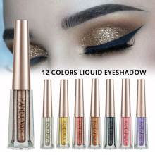 HANDAIYAN 12 Colors Waterproof Liquid Eyeliner Diamond Pearlescent Shiny Liquid Eyeshadow Glitter Eye Makeup Sparkling Eyeshadow
