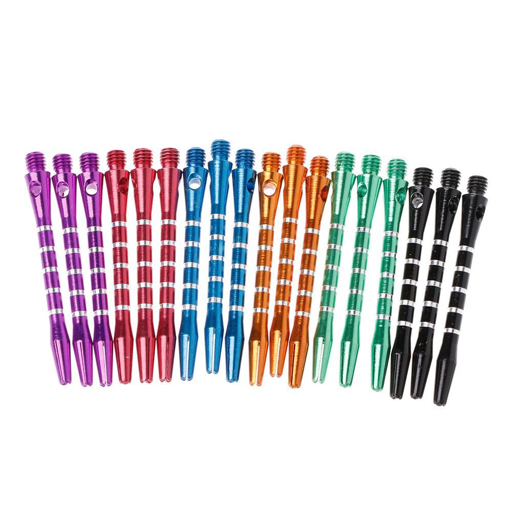 6 Sets/18 Pcs 53mm Aluminum Dart Shafts 6 Colors 2BA Thread Size Medium Length