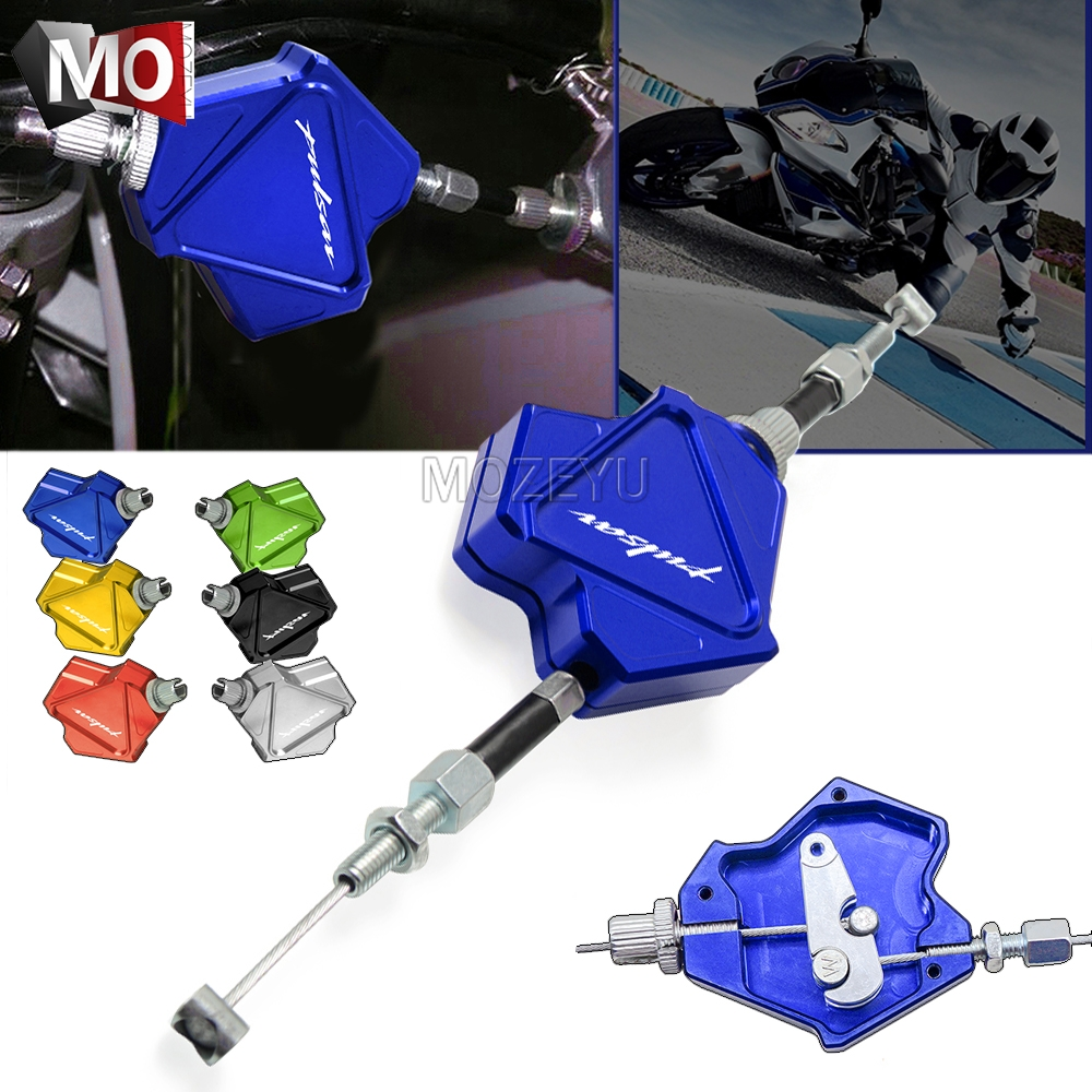 Motorcycle Accessories CNC Aluminum Stunt Clutch <font><b>Lever</b></font> Easy Pull Cable System For Bajaj <font><b>Pulsar</b></font> <font><b>200</b></font> <font><b>NS</b></font> All Years image