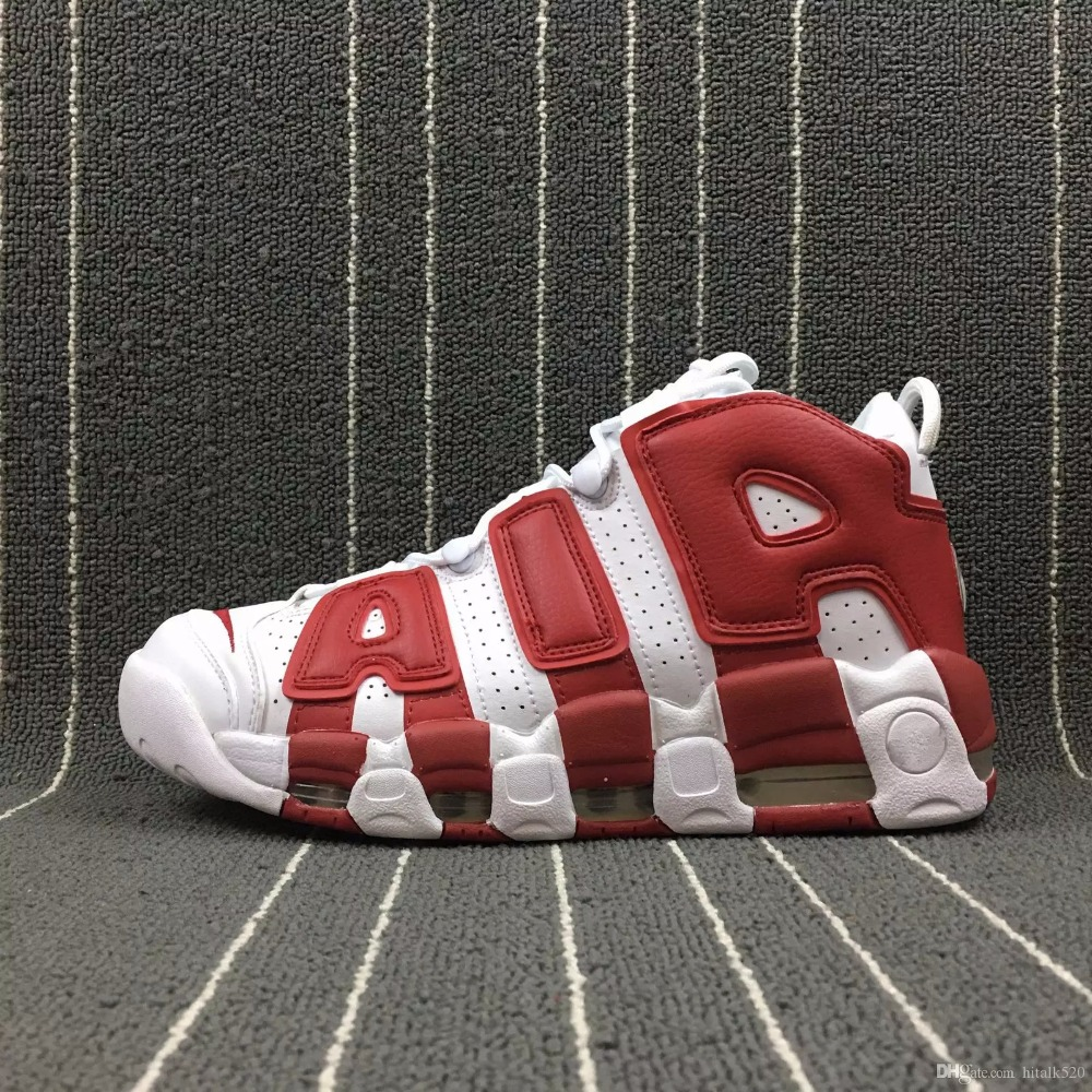 8c89441cf2b51 High Quality More Uptempo 96 QS Olympic Tri Color UNC Air White Men  Basketball Shoes Cheap 3M Mens Scottie Pippen shoes Sneakers-in Basketball  Shoes from ...