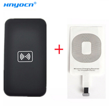 Qi Wireless Charging Kit for iPhone 6 6S 7 8 Plus X 5 5c 5s Wireless Charger Charging Pad and Receiver Card kit