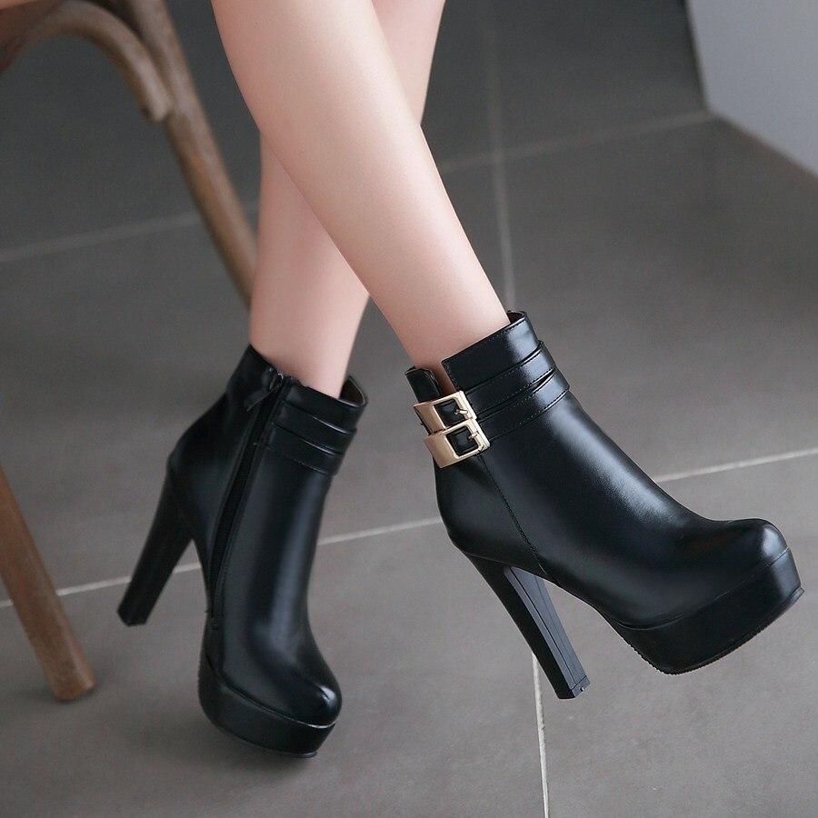 Aliexpress.com : Buy Autumn Winter High Heels Platform Ankle Boots ...