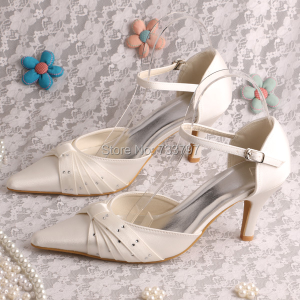 ФОТО Top Quality Big Size Pointy Toe Wedding and Evening Diamond Pleated Sandals for Womens Party