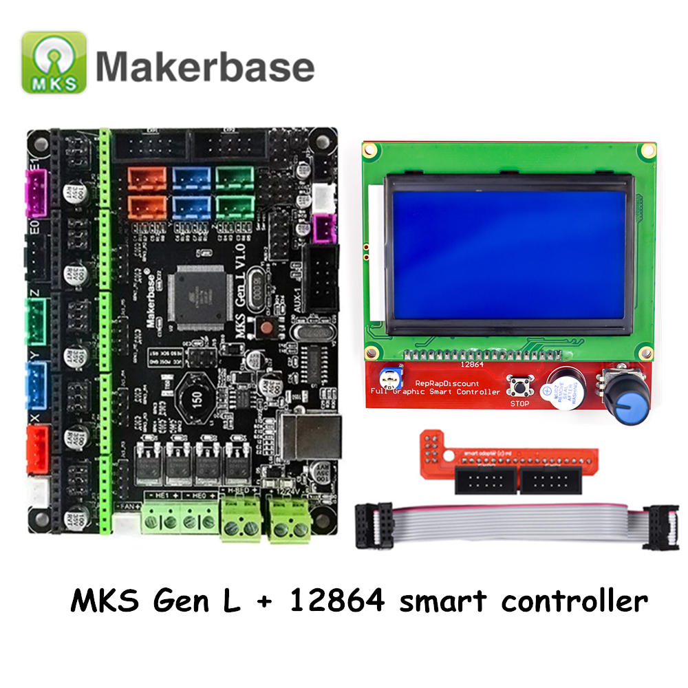 Original 3D Printer Parts MKS Gen L V1 0 Controller Board with LCD 12864 Smart Controller