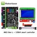 Оригинальные запчасти для 3D-принтера MKS Gen L V1.0 плата контроллера с ЖК-дисплеем 12864 смарт-контроллер для RAMPS 1 4/1 5