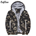 Oufi sun 2017 New Camouflage Hoodies Men Tracksuit Thick Army Spring Coats Men's Sweatshirts Fleece Male Brand Hoodies Plus 4XL