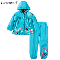 Spring Girls Casual Suits For Boys Clothes Sets Long Sleeve Children Clothing Waterproof Hooded Kids Costume