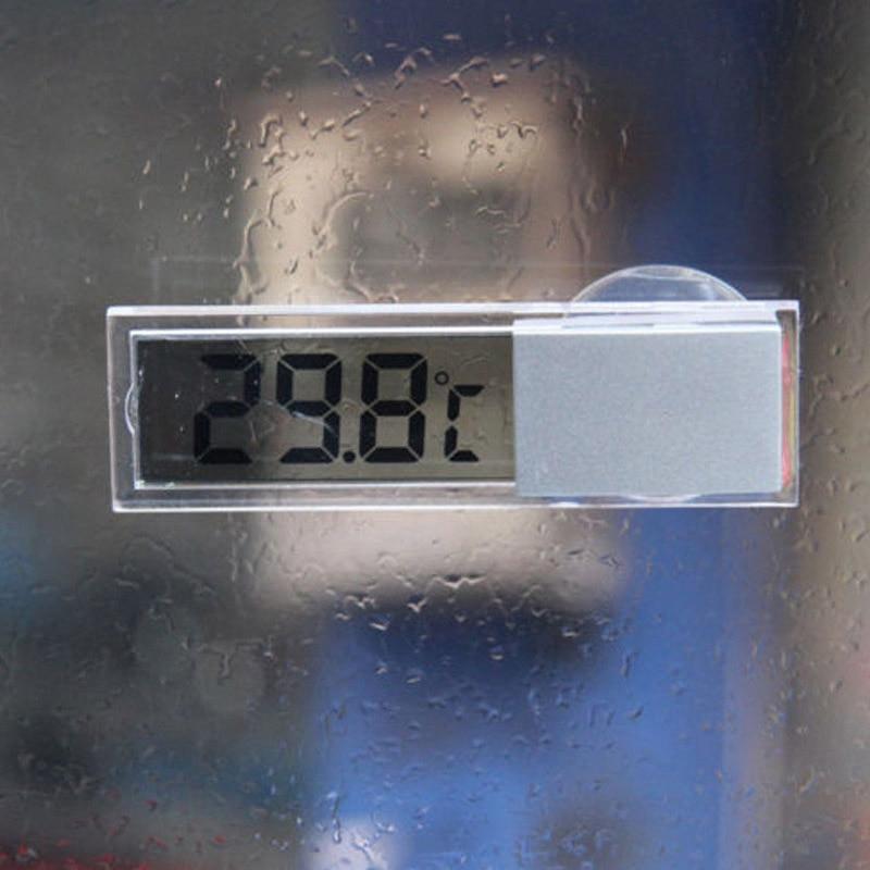 Termómetro Digital osculo tipo Celsius Fahrenheit LCD temperatura medidor ventosa para interior al aire libre -- M25 Regalo Idea despertador Digital con termómetro higrómetro humedad temperatura reloj de mesa escritorio cargador de teléfono