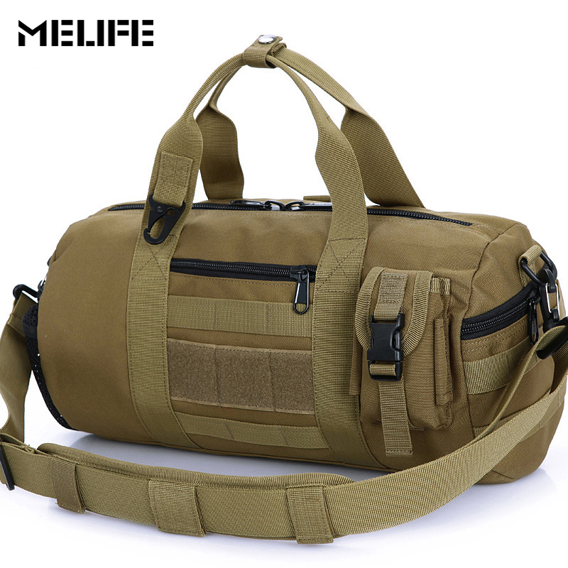 MELIFE Waterproof Sports Bag Single Shoulder Travel Bag Molle Men Women Gym Bags Tactical Hiking Fishing Yoga Package 1000D