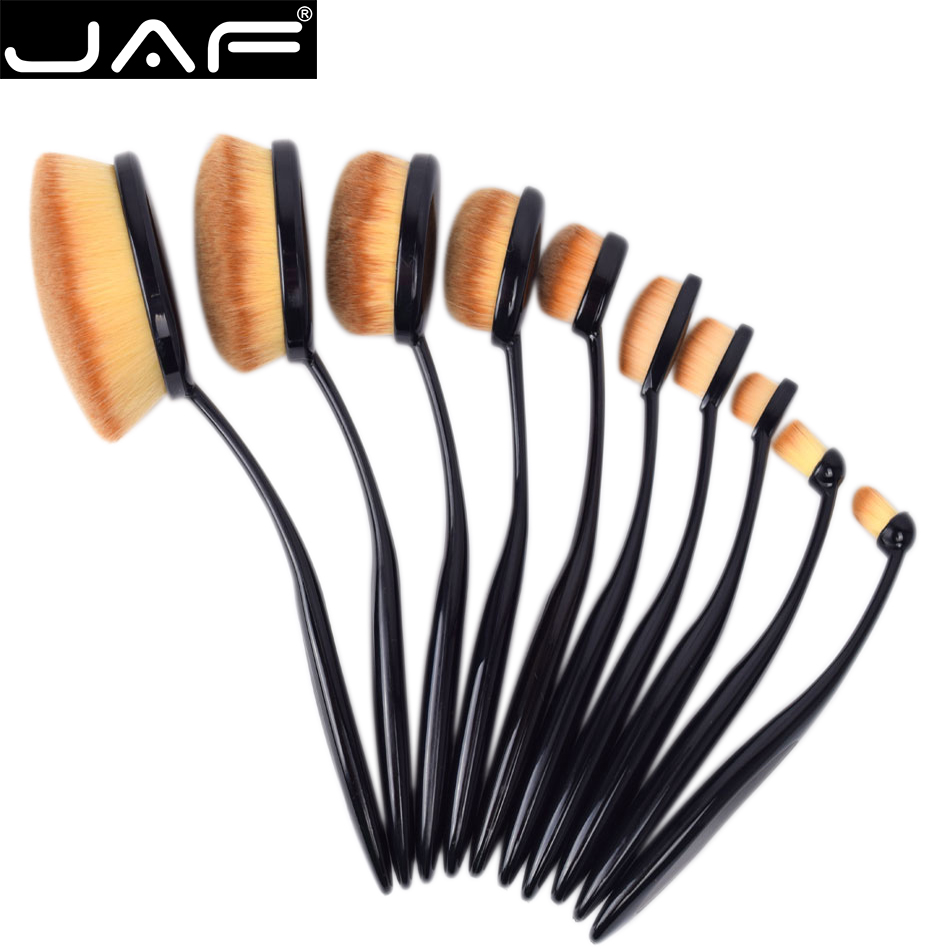 Jaf 10 pcs set oval makeup brushes toothbrush shape makeup for Stahlwandbecken oval set
