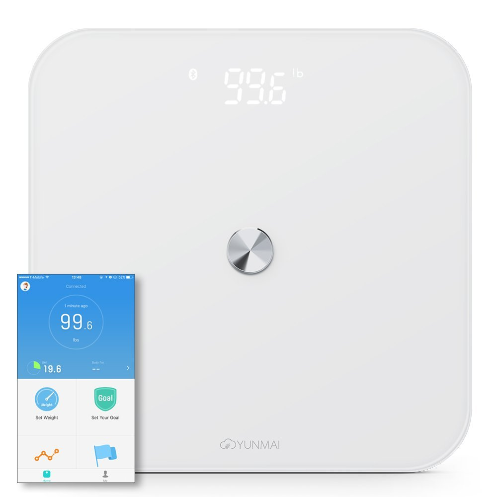 Yunmai SE Smart Body Weight Scale Digital Health Care Tool Hidden LED Display Bluetooth APP Control Weighing Scale BMI Data baby kids adult smart body fat intelligent weight scale electronic lcd digital app control analysis weight scale weighing tool