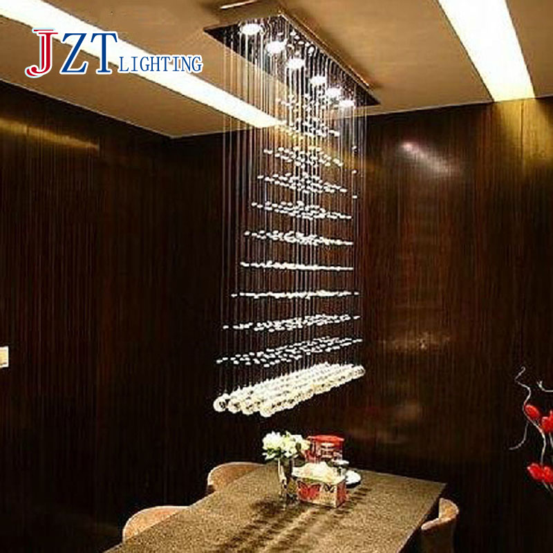 Z BEST PRICE K9 Crystal Chandeliers Rectangular LED Restaurant Chandeliers Living Room Curtain Light Hanging Wire Crystal Lamp modern crystal chandelier hanging lighting birdcage chandeliers light for living room bedroom dining room restaurant decoration