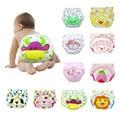2 unids/lote Pañales del pañal del bebé pañales reutilizables pantalones de entrenamiento bragas de la ropa interior de los niños para el control de esfínteres niño a-qdkbl014-2